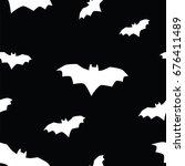 seamless texture pattern bat | Shutterstock . vector #676411489