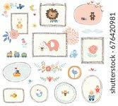 vector kids illustrations ... | Shutterstock .eps vector #676420981