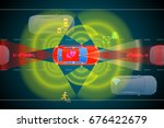 various automotive sensing... | Shutterstock .eps vector #676422679