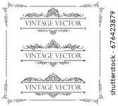 calligraphic vector of vintage... | Shutterstock .eps vector #676423879