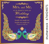 wedding invitation or card with ...   Shutterstock .eps vector #676424071