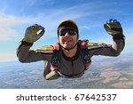 skydiving photo | Shutterstock . vector #67642537
