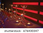 candles and cocktails romance | Shutterstock . vector #676430347