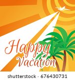 illustration summer holidays.... | Shutterstock . vector #676430731