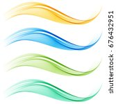 set of colored vector abstract... | Shutterstock .eps vector #676432951