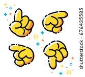 vector flat line icons pack.... | Shutterstock .eps vector #676435585