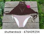 Bikini  Crop Top  Crochet