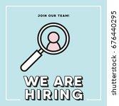 job vacancy vector illustration.... | Shutterstock .eps vector #676440295