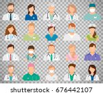 professional doctor avatars... | Shutterstock .eps vector #676442107