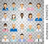 medical staff icons. doctors... | Shutterstock .eps vector #676442191