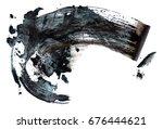 black compressed charcoal... | Shutterstock . vector #676444621