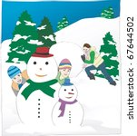 winter leisure story   Shutterstock .eps vector #67644502