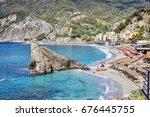monterosso al mare italian... | Shutterstock . vector #676445755