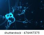 conceptual illustration of... | Shutterstock . vector #676447375