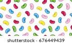 bean. jelly bean wallpaper... | Shutterstock .eps vector #676449439