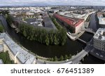 small rivers and bridges from a ... | Shutterstock . vector #676451389