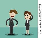 businessman and businesswomen... | Shutterstock .eps vector #676457371