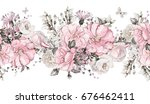 seamless pattern border with... | Shutterstock . vector #676462411