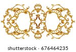 horizontal golden arabesque... | Shutterstock . vector #676464235