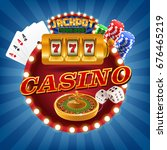 casino circle | Shutterstock .eps vector #676465219