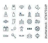 christmas icons set. collection ... | Shutterstock .eps vector #676473169