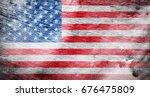 flag of usa | Shutterstock . vector #676475809