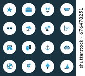 sun colorful icons set....   Shutterstock .eps vector #676478251