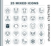 zoology icons set. collection...   Shutterstock .eps vector #676479685
