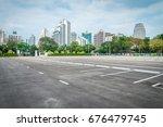 empty space in city park... | Shutterstock . vector #676479745