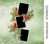 Christmas Frame For Three Photos