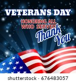 a veterans day background with...   Shutterstock .eps vector #676483057