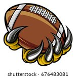a monster or animal claw...   Shutterstock .eps vector #676483081