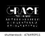 vector of modern stylized font... | Shutterstock .eps vector #676490911