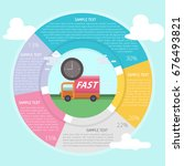 fast delivery infographic | Shutterstock .eps vector #676493821