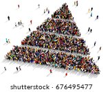 large and diverse group of... | Shutterstock . vector #676495477