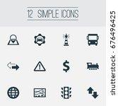 vector illustration set of... | Shutterstock .eps vector #676496425