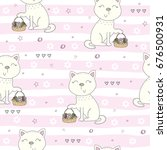 cute hand drawn cats colorful... | Shutterstock .eps vector #676500931