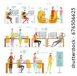colored flat game development... | Shutterstock .eps vector #676506625