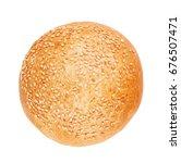 burger bun with sesame seeds...   Shutterstock . vector #676507471