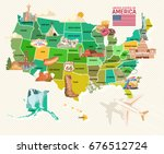 welcome to usa. united states... | Shutterstock .eps vector #676512724