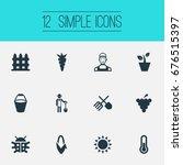 vector illustration set of... | Shutterstock .eps vector #676515397