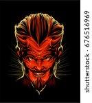 red devil | Shutterstock .eps vector #676516969