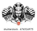 devil rider | Shutterstock .eps vector #676516975