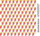 retro memphis geometric cube... | Shutterstock .eps vector #676520527