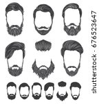 hairstyle and beard hipster... | Shutterstock .eps vector #676523647