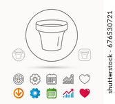 flower pot icon. gardening... | Shutterstock .eps vector #676530721