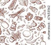 spices kitchen background | Shutterstock .eps vector #67653562
