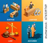 law isometric design concept... | Shutterstock .eps vector #676539769