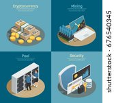 isometric compositions with... | Shutterstock .eps vector #676540345