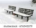 Two Benches In Winter